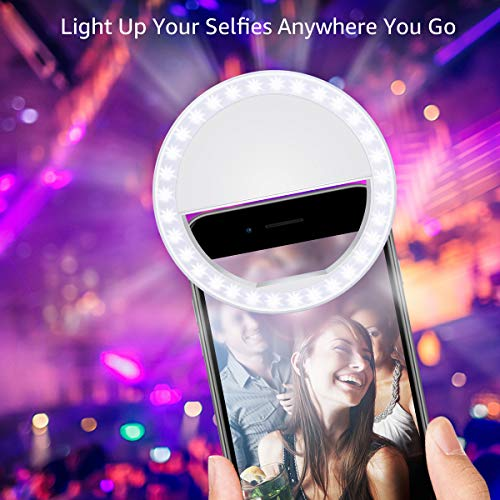 Fodizi Selfie Clip On Ring Light for Smart Phone Camera iPhone iPad Androids Vlogging on Instagram Facebook YouTube - 36 Rechargable LED Phone Light by Fodizi (Image #6)
