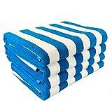 #4: California Cabana Striped Oversized Beach Towel | Set of Four Extra Large 30