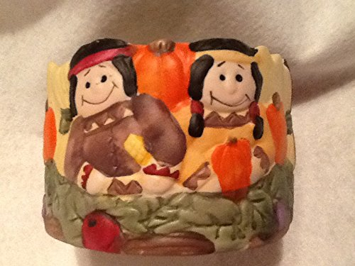 (Thanksgiving Indian Candle Holder, Candy Dish )