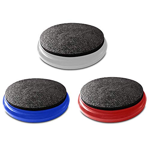 Bucket Lidz Bucket Lid 3 Pack - Comes in Red, White, and Blue - Perfect Seat, Made in The USA (Fishing Ice Seats)