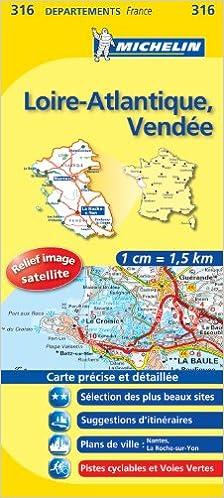 Carte Loire Atlantique Vendee.Amazon Fr Carte Dpartements Loire Atlantique Vende