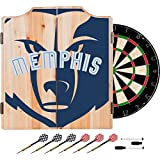 Trademark Gameroom NBA7010-MG2 NBA Dart Cabinet Set with Darts & Board - Fade - Memphis Grizzles