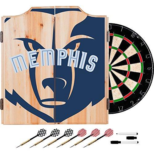 Trademark Gameroom NBA7010-MG2 NBA Dart Cabinet Set with Darts & Board - Fade - Memphis Grizzles by Trademark Global