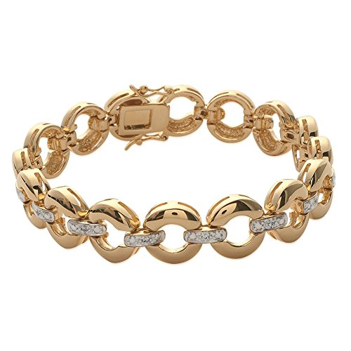 MARY JANE - Bracelet plaqué Or Femme - Long:18cm / Larg:11mm - Plaqué or-Zirconium (Rond)
