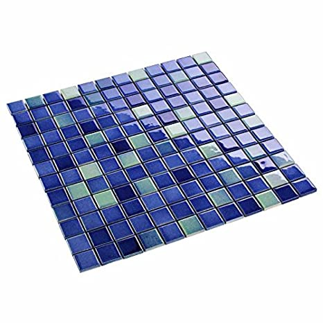 Keramik Mosaikfliesen Mosaik Knopfmosaik 1,9 x 1,9 cm Weiß Glanz glänzend