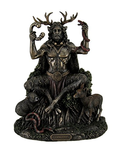 Resin Statues Cernunnos Celtic Horned God Of Animals And The Underworld Statue 9 Inch 7 X 8.75 X 5.5 Inches Bronze - Pan Statue