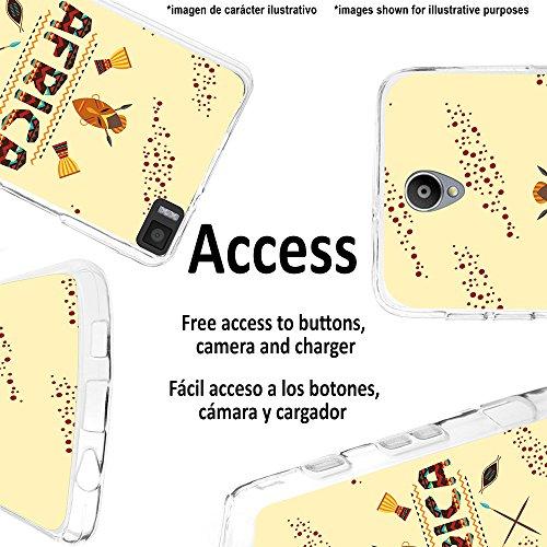 WoowCase Hülle Case für [ iPhone 7 ] Handy Cover Schutzhülle Afrikanische Symbolen