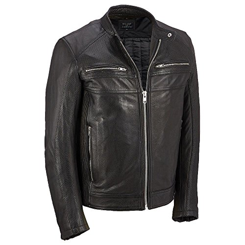 Wilsons Leather Mens Cycle Performance Leather Jacket W/Thinsulate Insulation L (Wilsons Leather Jacket Men)