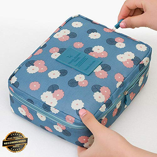 Gatton Portable Travel Makeup Toiletry Case Pouch Flower Organizer Cosmetic Bag New | Style TRVIHR-11291861