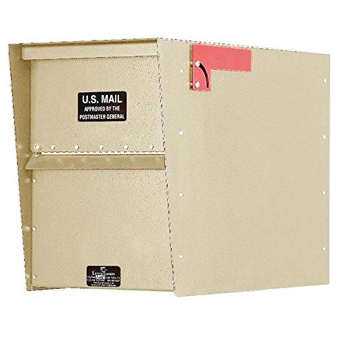 (Jayco LLA3RRSTD Standard Rear Access Aluminum Letter Locker Mailbox Tan )