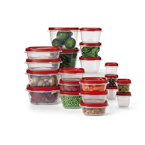 Rubbermaid 40-Piece Easy Find Lids Food Storage Container Set- Microwave and Dishwasher Safe (Pull Down Lid compare prices)