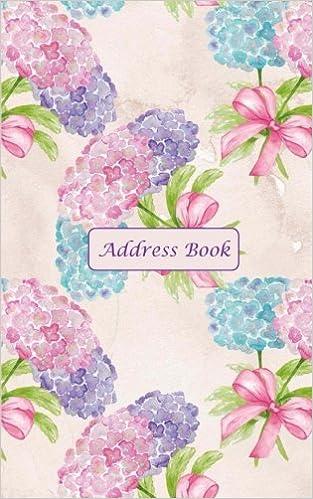 amazon com address book pretty hydrangeas pattern address book