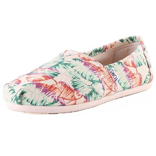 TOMS Womens Classic Casual Shoe Multi Burlap Printed Tropical ymrqd0Hm