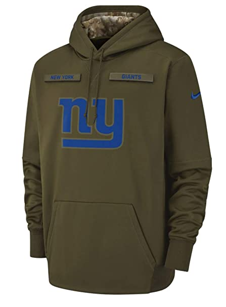 72e4f0be8 New York Giants 2018 NFL Salute to Service Men s STS Therma Hoody (Medium)
