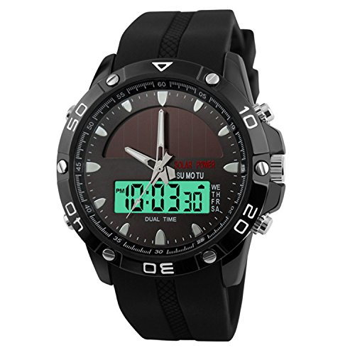 Solar Powered Watches Men Amazon Com