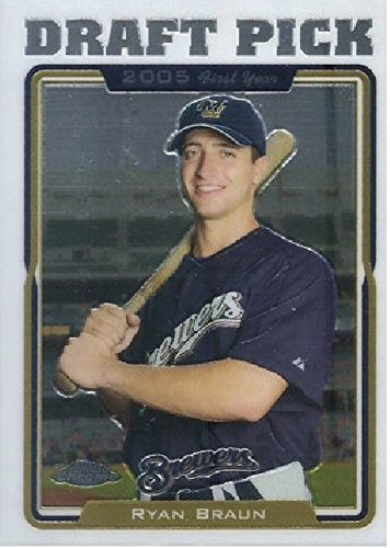 - 2005 Topps Chrome Update & Highlights Ryan Braun Milwaukee Brewers Baseball Rookie Card #UH198
