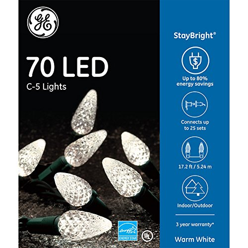 100 Led C 5 Holiday Christmas Lights in US - 7