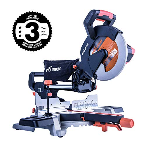 "Evolution Power Tools R255SMS 10"" TCT Multi-Material Sliding Miter Saw (Renewed)"