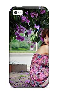 For Iphone 5c Tpu Phone Case Cover(korean Girl Model Photography)
