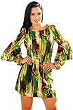 SurelyMine Womens Rachel Kate Bell Sleeve Print Shift Dress Small Multi