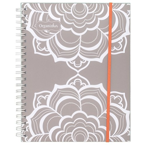 Mead All in One Weekly / Monthly Memo Book / Planner July 2016 - June 2017, 12 Months, 8-1/2' x 11', Organizher, Gray (WAW4123817)