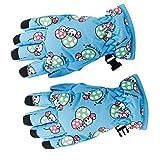 1Pair Children Kids Anti-slip Winter Breathable 2-4 Years Ski Skating Gloves Sky Blue