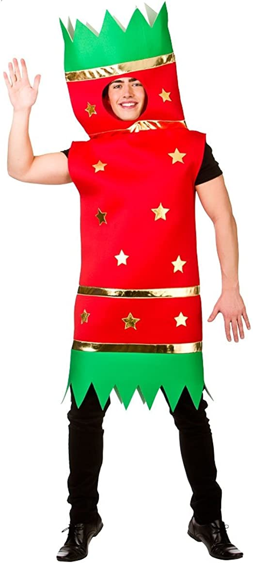 Christmas Cracker Adults Fancy Dress Festive Season Xmas Mens Ladies Costume New