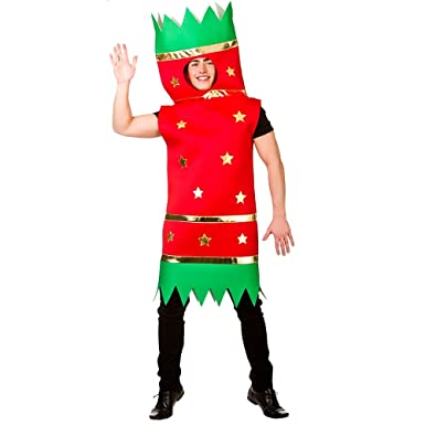 Christmas Fancy Dress Funny.Adult Novelty Xmas Cracker Fancy Dress One Size Funny