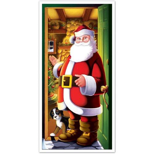 Beistle 20012 Santa Door Cover, 30