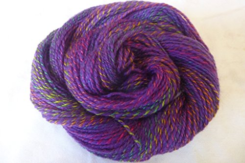 Point Judith Evening Purple twisted with multicolor jewel tones sport weight knitting crochet yarn