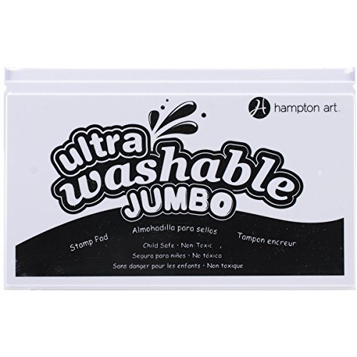 (Hampton Art SP2102 Black Jumbo Washable Ink Pad)