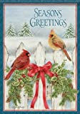 Cheap Country Christmas Seasons Greetings Cardinal Double Sided House Flag 28 X 40