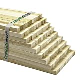 """Wooden Unfinished Square Dowel Rods 1/4"""" x 36"""" for Crafting, Projects and Woodworking- Bag of 10"""