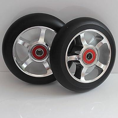 2M de roues de scooter Freestyle de 100mm88a ABEC-9Jante en aluminium argent