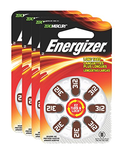 - Energizer EZ Turn & Lock Hearing Aid Batteries, Size 312 (32 count)