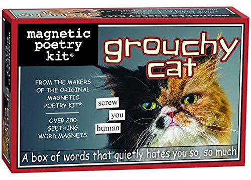 - Magnetic Poetry - Grouchy Grumpy Cat Kit - Words for Refrigerator - Write Poems and Letters on the Fridge - Made in the USA