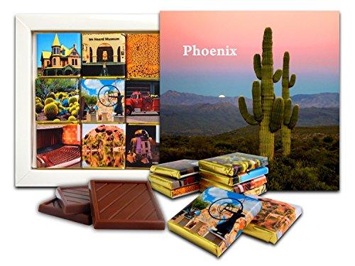 DA CHOCOLATE Candy Souvenir PHOENIX Chocolate Gift Set 5x5in 1 box - Americas Las Map Plaza