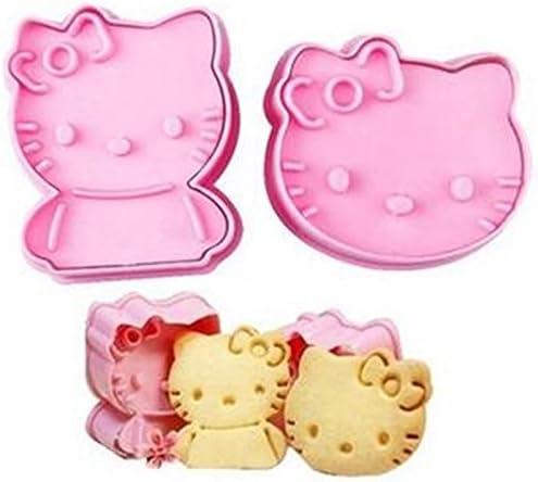 Kitty Ausstechformen 2Stück Kunststoff DIY Backen (Generic) Hello Kitty Geburtstag Party von charmtm