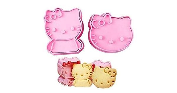 Amazon.com: Hello Kitty cortadores de galletas, 2 piezas de ...