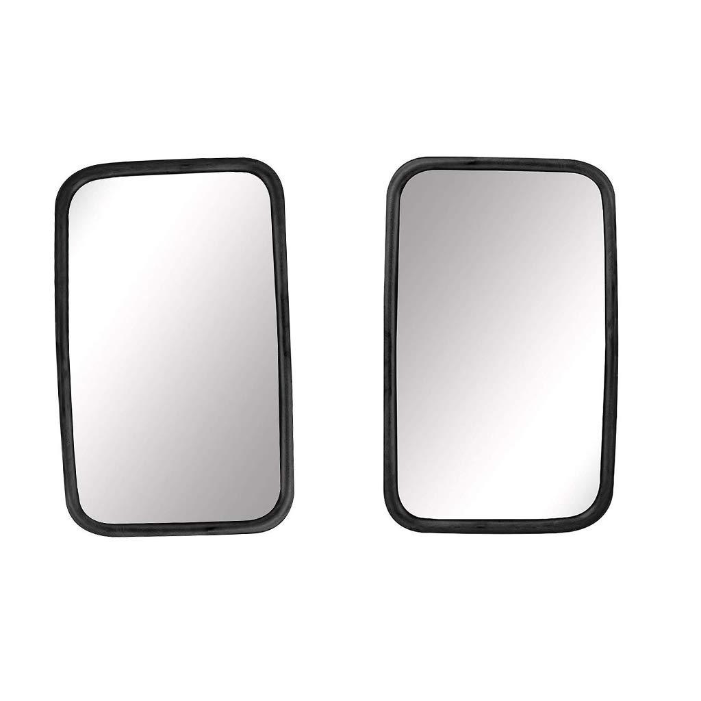 Caravanes-2XRear Vue Miroirs Pelleteuses Camions Universal R/étroviseur Camions,Miroir Transport,2X Miroir,verre Miroir,160x255mm,protection Caoutchouc,pour Tracteurs