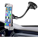 Ipow Universal Large Devices Dashboard/Windshield Cell Phone Holder, Car Mount Holder for iPhone 6 6S 6 Plus 5 5S 5S, Samsung Galaxy Edge S7 S6 S5 S4 S3 Note5 4, Nexus 5/4, LG G3, HTC, GPS and etc