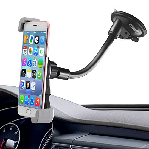 Diagonal Clamp Car Holder,Ipow Large Device Dashboard/Windshield Phone Mount Cradle for iPhone...