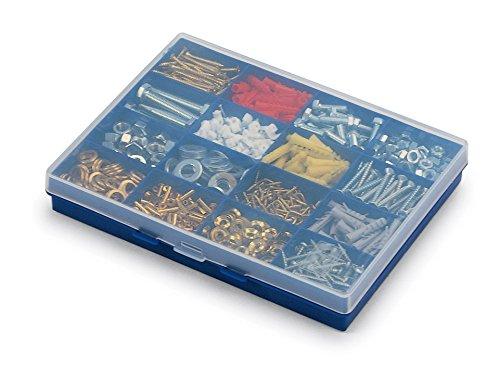 Terry Plastics TFF1B - Caja de almacenamiento, con 16 compartimentos pequeños