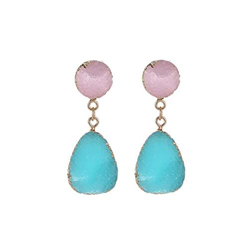 Surgical Stainless Steel Women-Girls Long Round Chain Water Drop Stud Dangle Earrings Hypoallergenic Earrings