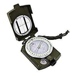 High Accuracy Waterproof Compass, Professional Multifunction Military Army Metal Sighting Compass