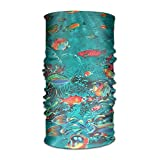 16-in-1 Multifunctional Headwear Magic Scarf Marine Fish Print Neck Gaiter Headband Bandana For Motorcycle Running Fishing Hiking Workout Yoga Fitness Cycling Exercise