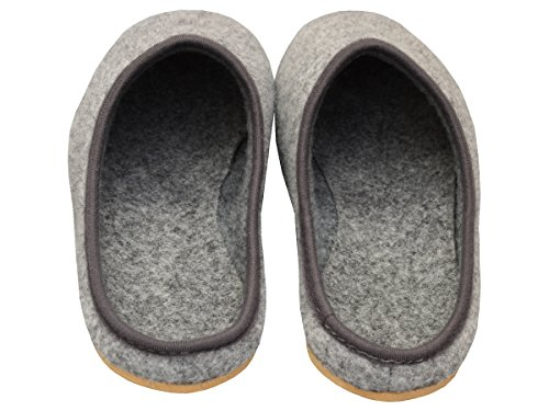 Bawal Comfortable Felt Slippers Unisex | Lightweight | Breathable Grey, Model FD01
