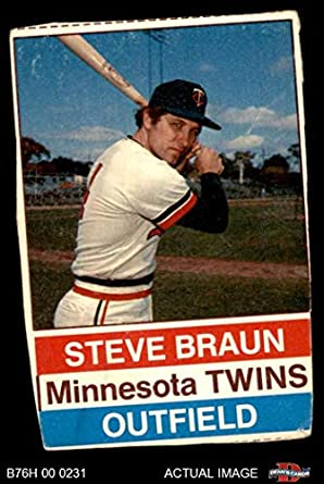 Amazoncom 1976 Hostess 96 Steve Braun Minnesota Twins