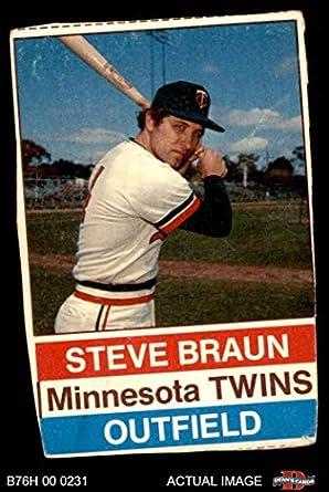 Amazoncom 1976 Hostess 96 Steve Braun Minnesota Twins