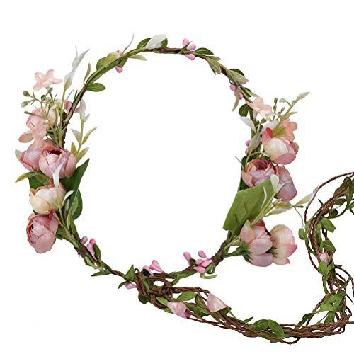 Vine Flower Crown Boho Flower Headband Hair Wreath